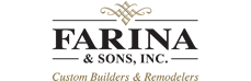 Farina & Sons, Inc. Custom Builders & Remodelers Logo