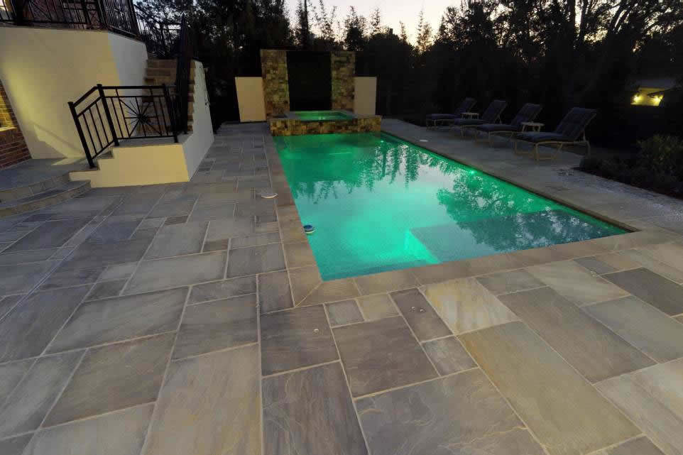 SA Promenade flag and pool coping pool area 7