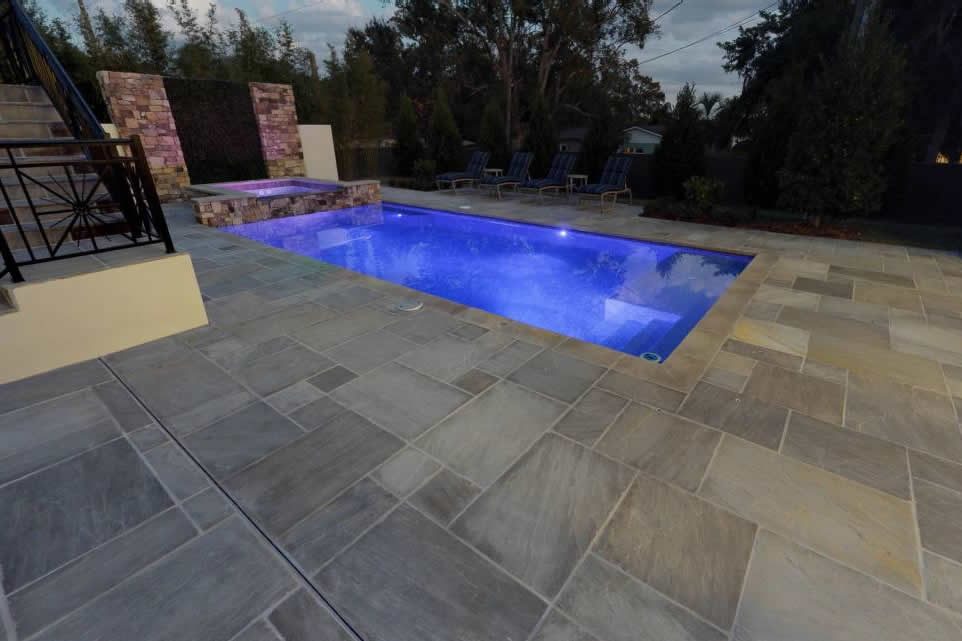 SA Promenade flag and pool coping pool area