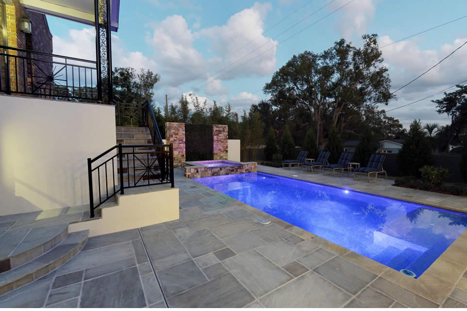 tnar promenade classicstone with promenade chiseled edge pool coping pool deck lit